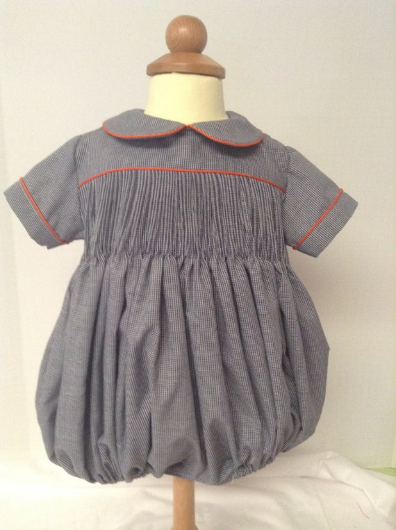 Ready to Smock yoke style baby boy or girl Bubble Made to Order