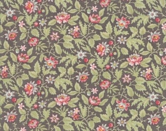 Charcoal Grey Poetry Prints Fabric - Moda - 3 Sisters - 44134 12