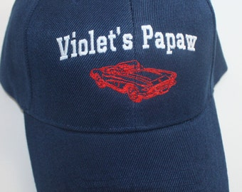 Custom Corvette Car Hat for Papaw- Personalized