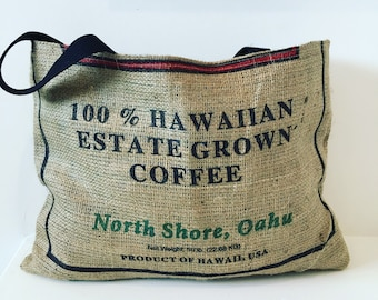Small Burlap Tote/ Market Bag/ Beach Bag