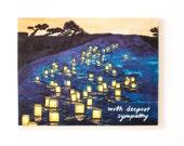 Japanese Lanterns Sympathy Card