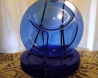 Vintage Cobalt Blue Grill Plate