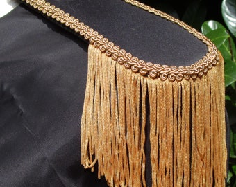 Mens Military Style Black & Gold Suede Look Epaulettes with Gold Tassel  FREE SHIPPING!!