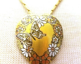 50% OFF Reed and Barton Heart Damascene Vintage Pendant Necklace