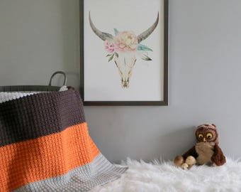 Ready To Ship | Crochet Baby Blanket | Color Block Blanket | Desert Glaze | Baby Blanket | Nursery Bedding | Modern Nursery | Gift Idea