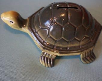 Vintage Metal Turtle Bank   Cute Turtle Bank