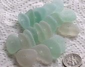 20 Sea Glass Beads Centre Drilled 1.8mm holes Jewellery Quality Supplies (1965)