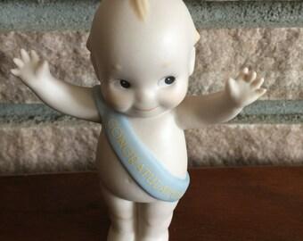 Vintage 1993 Jesco Porcelain Cupie Congratulations