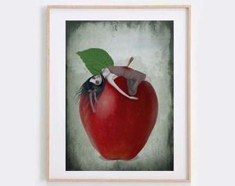 Snow White Art Print - Fairytale Art Print - Wall Decor - Death By Apple