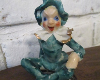 Vintage Pixie Elf Sprite Figurine Made in Japan Small Ceramic Porcelain Shelf Sitter Collectible