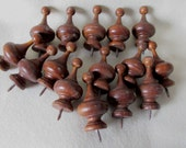 15 Antique Wood Finials, Architectural Elements, Home Decor
