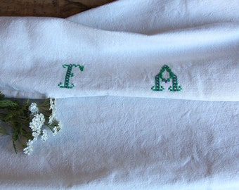 D 56: handloomed linen antique charming TOWEL napkin, LAUNDERED,리넨, decoration; tablerunner