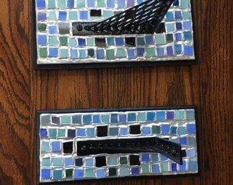 Stained Glass Mosaic Sconces - (Set of 2)