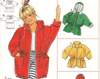 Burda 4327 Children Coat sewing pattern - UNCUT Size 18 Mo To 4