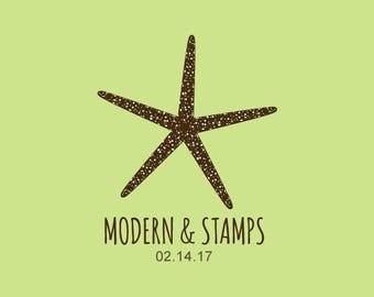 Wedding Stamp   Custom Wedding Stamp   Custom Rubber Stamp   Custom Stamp   Personalized Stamp   Starfish Stamp   C249