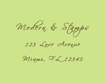 Wedding Stamp   Custom Wedding Stamp   Custom Rubber Stamp   Custom Stamp   Personalized Stamp   Return Address Stamp   Text Stamp   C408