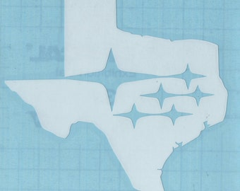 Texas Subaru Decal Sticker