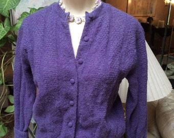 Purple cardigan | Etsy