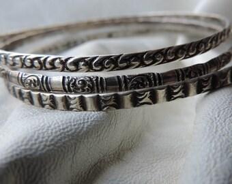 sterling bangles art deco 1930s bracelets