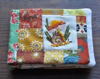Hidden in the garden  //  Handmade small cloth story book // Heirloom baby book // Baby gift