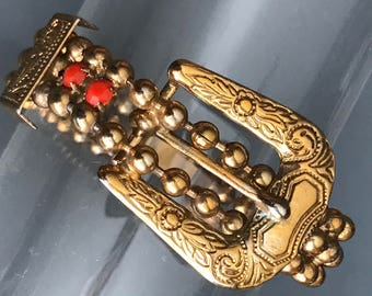 Vintage Art Deco Bracelet . Belt Buckle  Jewelry
