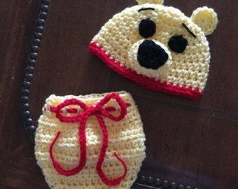 Crochet Winnie The Pooh Baby Set
