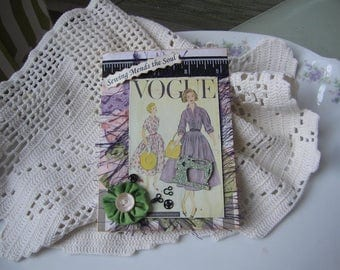 Sewing-themed Card - Vogue Sewing Card - Vintage-style Sewing Card