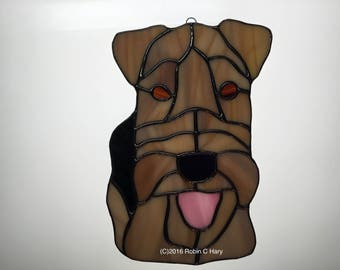 Welsh Terrier in Stained Glass