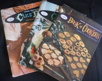 Vintage Good Housekeepings cookbooks, Set of three vintage cook books, Vintage Christmas Cook Books