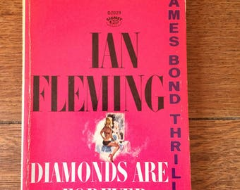 Mid Century Paperback Copy of Ian Flemings Diamonds Are Forever - James Bond