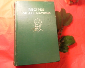 RECIPES of all NATIONS 1935 vintage cookbook