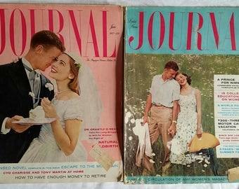 Vintage May & June 1957 Ladies Home Journal Magazines
