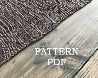 Summer Shawl or Wrap - Easy Knitting PDF PATTERN - Une Echarpe Trouee - PDF pattern