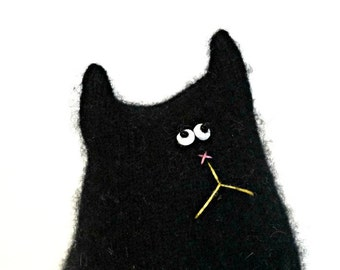 Black Cat Doll - Stuffed Toy Cat Doll - Black Cat - Cashmere Cat - Cat Lover Gift - Soft Toy - Stuffed Toy  Cat- Cute Plush Toy - Cat Doll