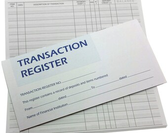 check transaction register