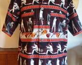 Singing Elvis Presley Novelty Camp Shirt size (XL)