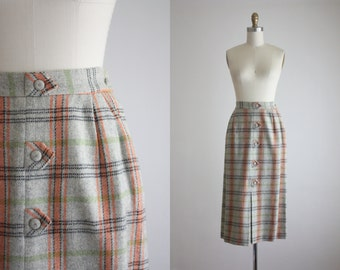 1940s arrow plaid skirt