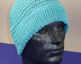 50% OFF SALE Instant Digital File PDF Download Knitting pattern - Simple Stripey Spring Beanie hat knitting pattern