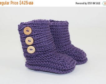 50% OFF SALE Instant Digital File PDF Download - Baby Unisex Booties knitting pattern