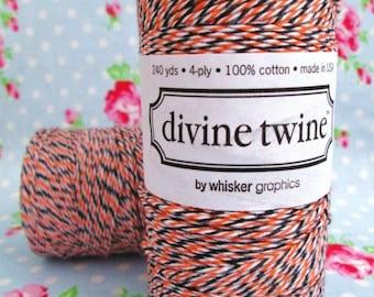 Divine Twine Bakers Twine Spool - Halloween - 240 Yards