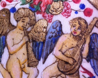 Medieval Illumination, handmade reproduction