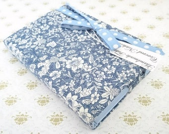 Small Fabric covered note book