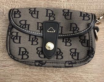 Dooney & Bourke Monogram Wristlet Leather Dooney Flap Wristlet