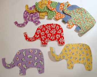 Baby Elephants Iron On Appliques