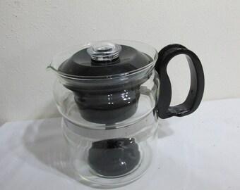 Glass Percolator 6 Cup Coffee Pot Complete