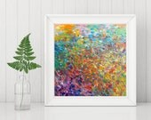 Digital Print - Abstract Painting - Instant Download - Modern Home Decor - Wall Art - Rainbow Colors - Abstract Art Printable - Square Print