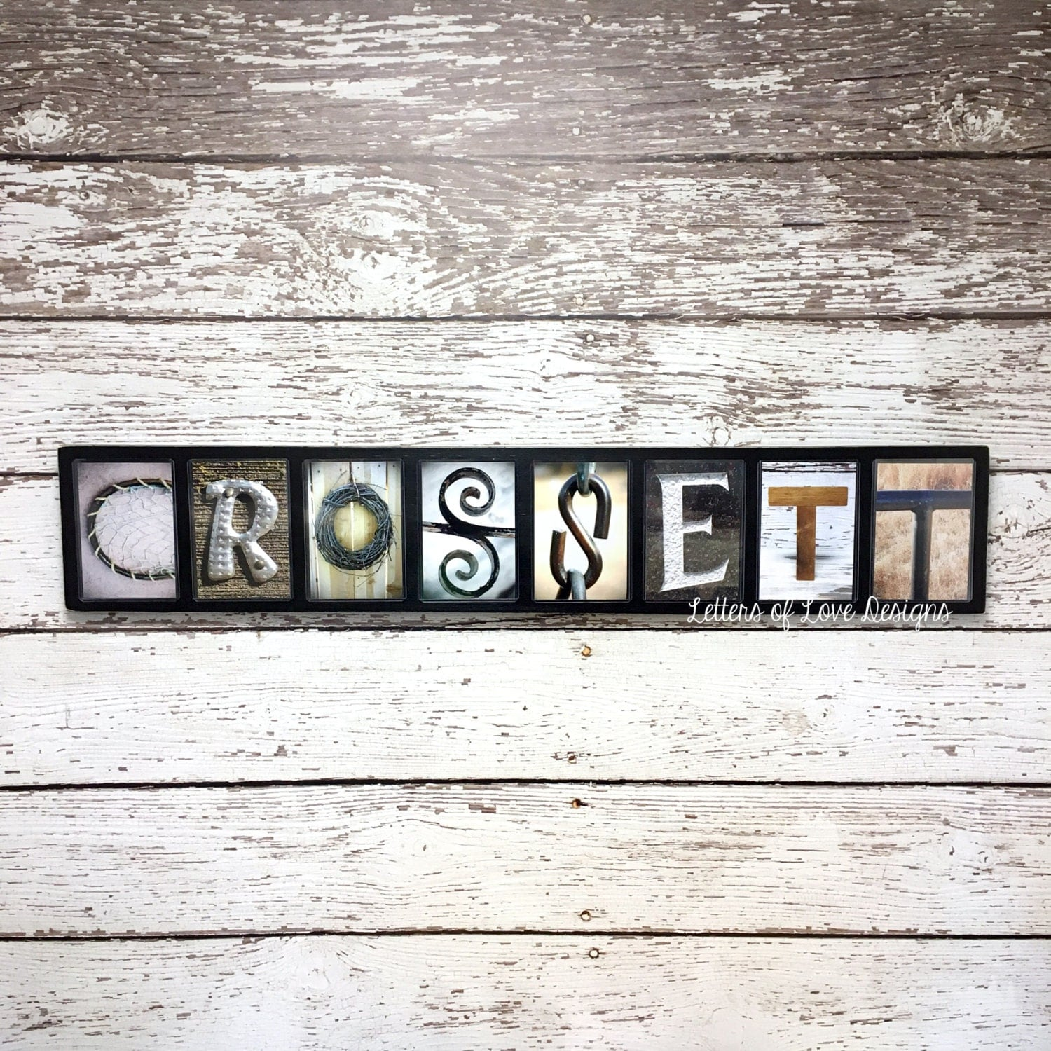 Last name sign 8 9 letters custom name wood sign alphabet for Letter name signs