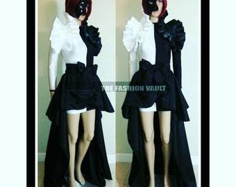 Phantom of the opera Ringmaster Burlesque Bustle skirt bolero wrap and bodycon dress Steampunk Circus Moulin rouge Cosplay Lolita Behance