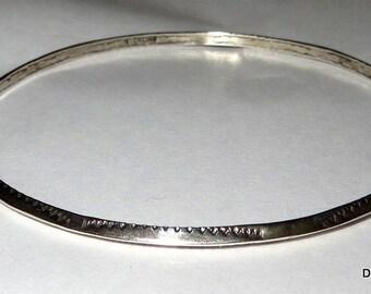 Native American Sterling Silver Bangle Bracelet
