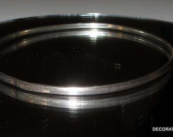Skinny Sterling Silver 925 Bangle Bracelet Lightweight